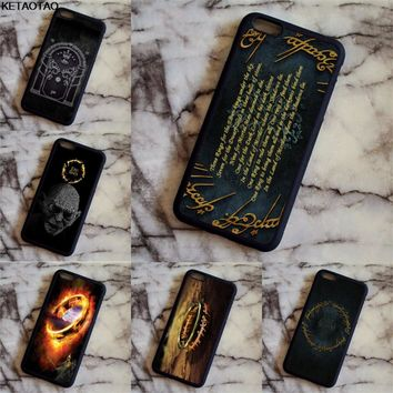 KETAOTAO The Lord of the Rings Hobbit Gollum Phone Cases for iPhone 4S 5C 5S 6S 7 8 Plus XR XS Max Case Soft TPU Rubber Silicone