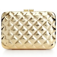 Jessica McClintock Metallic Quilted Evening Clutch