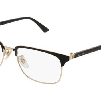 Gucci - GG0131O-001 Black Eyeglasses / Demo  Lenses