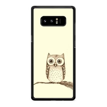 Owl Drawing Samsung Galaxy Note 8 Case