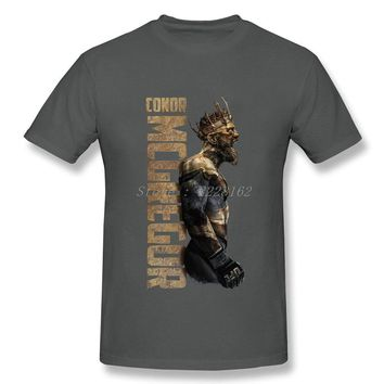 Popular Conor Mcgregor T-Shirts Men Best Tee Hipster Funny t shirts Adult Short-Sleeve Costumes