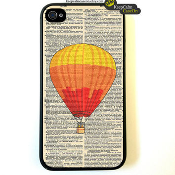 iPhone 4 Case Vintage Balloon iPhone Case Hard by KeepCalmCaseOn