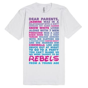 Taught To Be Rebels-Unisex White T-Shirt