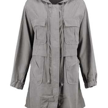 Tilly Oversized Pocket Festival Jacket | Boohoo