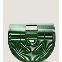 Bamboo Picnic Bag in Green