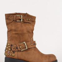Gemstone Stud Engineer Boot