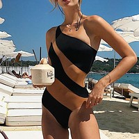 Sexy Transparent Bikini Plus Size Swimwear Women Monokini High Cut Swimsuit Female One Piece Summer Bathing Suit