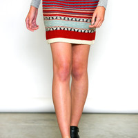 Crystal Mountain Knit Skirt