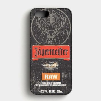 Jagermeister Raw iPhone SE Case