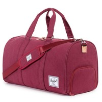 Cotton Canvas Novel Duffle in Windsor Wine by Herschel Supply Co.