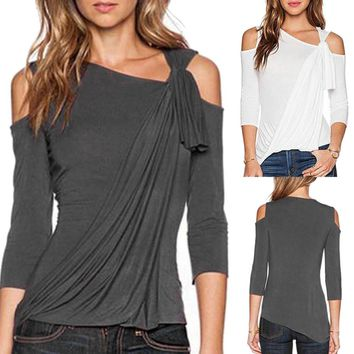 Cold Shoulder Loose Top
