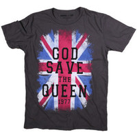Men's God Save The Queen T-Shirt, God Save Queen Tee, British Flag Tee at PalmerCash.com