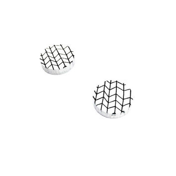 Geometric Circle Earrings - Black and White, Geometric Jewelry, Geometric Earrings, Simple Jewelry, Minimalist Earrings, Minimalist Jewelry