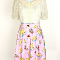 CARDCAPTOR SAKURA Kero Dessert Time Skater Skirt - Made to Order