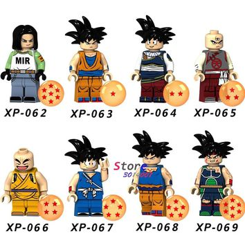 Single Building Blocks Dragon Ball Z Anime Cartoon Series Figure Son Goku Android 17 TV models bricks kids toys for children