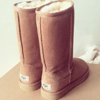 UGG Trending Warm Women Men Classic Boots Wool Fur Boots High Boots Shoes I
