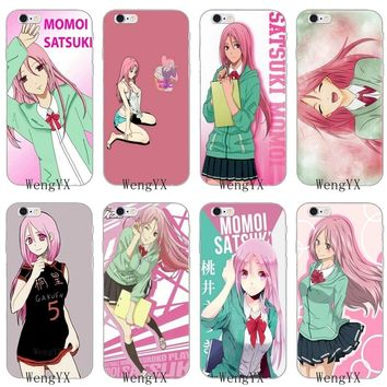 sexy girl Kuroko no Basket Momoi Satsuki Slim silicone Soft phone case For iPhone 4 4s 5 5s 5c SE 6 6s plus 7 7plus 8 8plus X