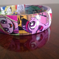 My Little Pony comic decoupage bangle bracelet