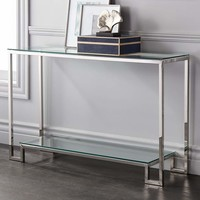 "Krista 47 1/2"" Wide Modern Glass Console Table - #1M507 