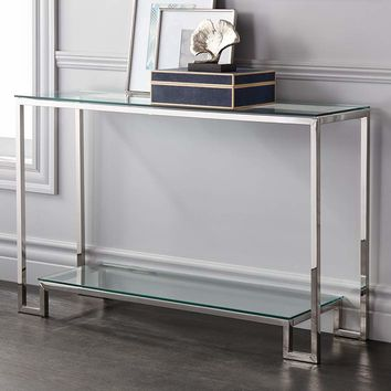 """Krista 47 1/2"""" Wide Modern Glass Console Table - #1M507 