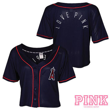 Los Angeles Angels of Anaheim Victoria's Secret PINK® Crop Baseball Jersey