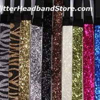 NEW GLITTERY Sports HEADBAND Glitter Headbands Sparkle Softball Volleyball Dance