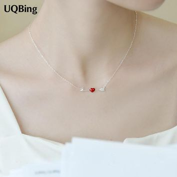 Drop Shipping 925 Sterling Silver Necklaces Love At First Sight Pendants&Necklaces Jewelry Collar Colar