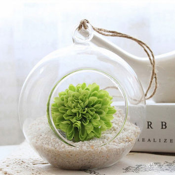 FREE SHIPPING Glass Hanging Planter Air Plant Terrarium Container Vase -- Home decoration -- Wedding Decoration