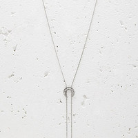 Etched Crescent Bolo Necklace