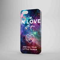 One Direction Love Quote In Galaxy iPhone 5 Case