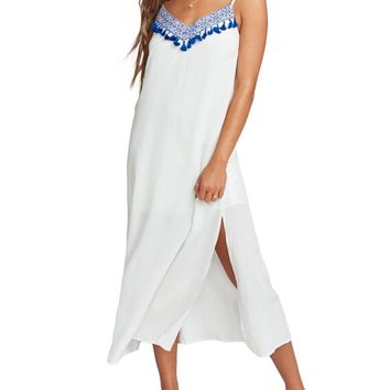 Angie Embroidered Slip Dress