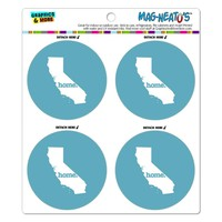 California CA Home State MAG-NEATO'S(TM) Refrigerator Magnet Set - Solid Robin Egg Blue