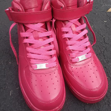 Nike Air Force 1 Custom Magenta  Frescho Sneaker Customization Low Price  Quality Sneaker Athletic Handpainted 0d9535d5e