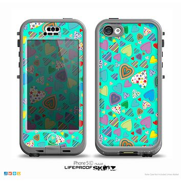 The Bright-Colored Knit Pattern on Teal Skin for the iPhone 5c nüüd LifeProof Case
