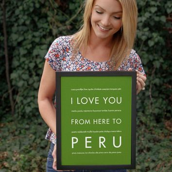 PERU Travel Art Print | Gift Idea | HopSkipJumpPaper