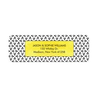 Black and White Triangles with Yellow Watercolor Label