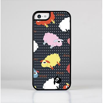 The Colorful Sheep Polka Dot Pattern Skin-Sert for the Apple iPhone 5c Skin-Sert Case