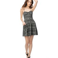 Aeropostale Womens Geo Bustier Dress - Black,