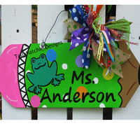 Pencil Door Hanger For Teacher Teacher Appreciation Gift Back to School Door Hanger Classroom Door Hanger. Wood Pencil Sign