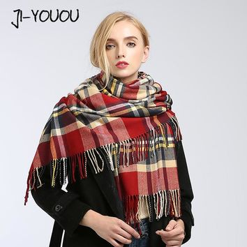 poncho winter women's scarf scarves for women shawl stoles fur collar cloak blanket warm knitted plaid bandana cashmere scarf