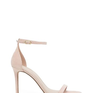 Faux Suede Ankle-Strap Stiletto