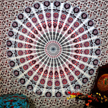Hippie Hippy Wall Hanging , Indian Mandala Tapestry Throw Bedspread Queen Bed Decor Sheet Ethnic Decorative Art Table Cloth