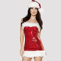 Miss Clause Sexy Holiday Costume - Alley Rose Lingerie Club