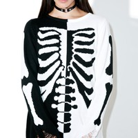 Skeletor Split-Knit Sweater