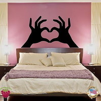 Wall Sticker Hands Making Heart Very Romantic Decor for Bedroom z1420