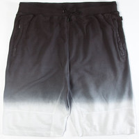 Aura Gold Dip Dye Mens Shorts Black  In Sizes