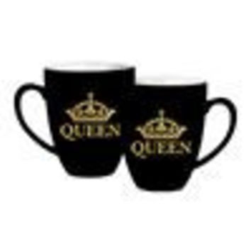 Black and Gold Queen Mug