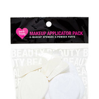 FOREVER 21 Makeup Applicator Pack White/Ivory One