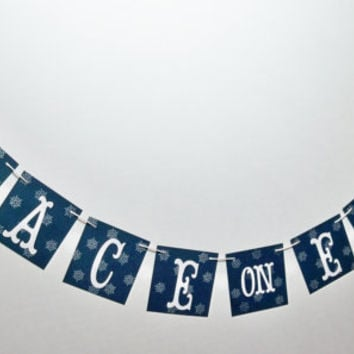 Peace On Earth Christmas banner holiday garland mantel decoration photo prop