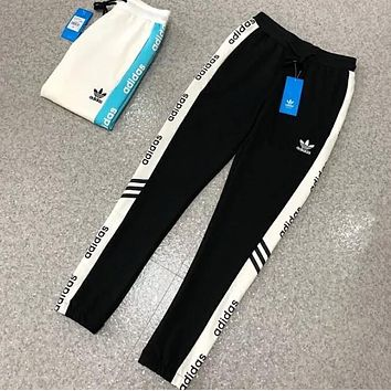 """Adidas"" Popular Women Men Loose Exercise Sport Pants Trousers Boy Girl Sweatpants Black I13377-1"